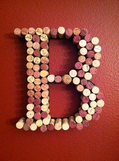 Wine Cork Letters - charming, unique & fun
