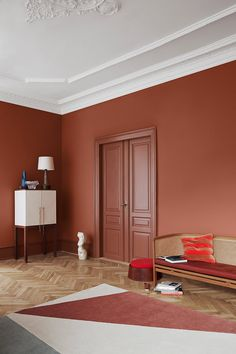 The Scandinavian company Jotun Lady predicts the interior colour trends of 2020 with 12 new colours Jotun Lady, Interior Inspiration, Design Inspiration, Interior Ideas, Interior Paint, Red Interior Design, Brown Interior, Interior Office, Interior Sketch