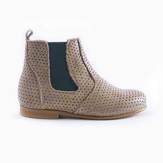 Boots Clotaire x Bonton vert - chaussure Filles Garçons - BONTON