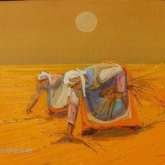 """Mi piace"": 12, commenti: 1 - Hillar56 (@hillar1956) su Instagram: ""#oliosutela #oliosuyuta #contadine #working #grano #landscape #artist #paint🎨 #dipingere #dipinti…"""
