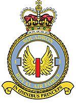 1(F) Squadron Crest RAF Exchange Program RAF Wittering,