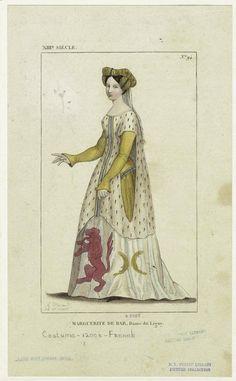 Marguerite de Bar, lady of Ligny, France, 13th century. Image details