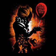 Dancing Clown de Alemaglia - Camisetas Pampling.com Horror Art, Horror Movies, Horror Pictures, Horror Pics, Slide Images, Book Wallpaper, Spray Paint Art, Tumbler Designs, Cool Art Drawings