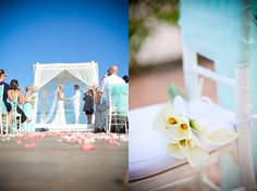 Azul Fives LUXE Destination Wedding  Turquoise Mint Coral Blush Sky Deck Ceremony