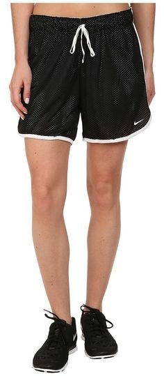 Nike Dri-FIT Drill Mesh Short (Black/White/White) Women's Shorts - Nike, Dri-FIT Drill Mesh Short, 642673-010, Apparel Bottom Shorts, Shorts, Bottom, Apparel, Clothes Clothing, Gift, - Fashion Ideas To Inspire