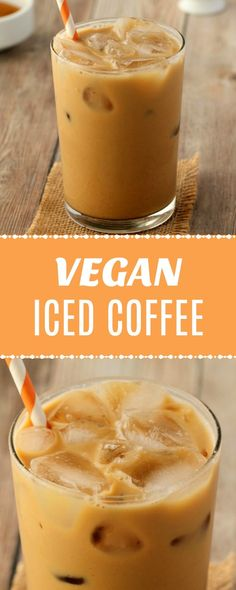 Creamy and smooth vegan iced coffee, 3 easy ingredients and a super easy method to a delicious, ice cold and refreshing drink that will seriously please your tastebuds. | lovingitvegan.com