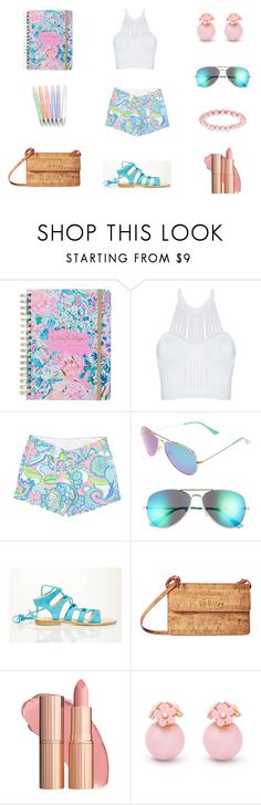"""P for Preppy. P for Pulitzer."" by sanjna-sanjiv on Polyvore featuring Lilly Pulitzer, Cornetti and Honora"