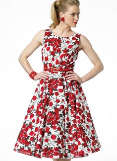 B5748 | Butterick Patterns - love this dress and fabric!