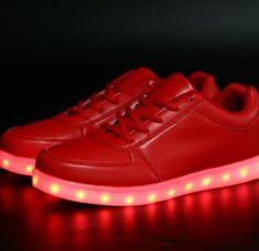 Lage Rood Lichtgevende Schoenen Dames