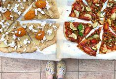 Taco Pizza, Vegetable Pizza, Feta, Tacos, Vegetables