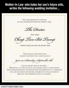 funny wedding invitation future mother in law hates future daughter in law