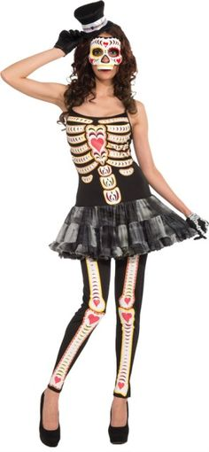 Day Of The Dead Costume - Adult Costumes #halloween #maquillaje #makeup