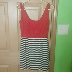 Dress Red white and black cute dress . Charlotte Russe Dresses