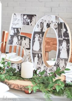 Anniversary Marquee Love anniversary centerpieces – Love this photo centerpiece for my parents wedding anniversary party! 50th Wedding Anniversary Decorations, 60th Anniversary Parties, 35th Wedding Anniversary, Anniversary Ideas, 30th Anniversary Gifts For Parents, 50th Anniversary Invitations, Anniversary Surprise, Golden Anniversary, Diamond Anniversary