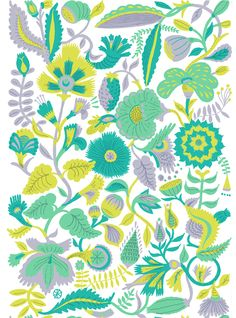 Lush Pattern by Llew Mejia, via Behance