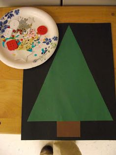 Would you like to decorate a Christmas tree? Kindergarten Christmas project.
