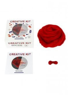 Kit Cœur pompon Saint Valentin, Bergère de France  Kits, broderie & tricot  Achat en ligne Kit, Cards, Pom Poms, Knitting Yarn, Heart Shapes, Net Shopping, Creative Crafts, Embroidery, Maps