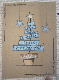 could use, Oh, Christmas Tree, Oh Christmas Tree too Jo Firth-Young Christmas card (art on paper) Contact us for custom printing services Christmas Doodles, Christmas Drawing, Christmas Art, Handmade Christmas, Christmas Design, Homemade Christmas Cards, Homemade Cards, Holiday Cards, Navidad Diy