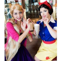 Pin for Later: Yes, You Can Be a Disney Princess —Here's How! Housewife Snow White and Rapunzel