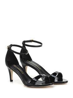 Cecconello - Sandalo alto - Donna - Sandalo alto in vernice con cinturino alla caviglia. Tacco 70. - BLACK - € 145.00