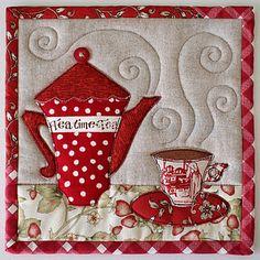 TeaTime Trivets by PatchworkPottery, via Flickr    9 x 9 trivet