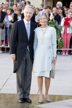 Religious wedding of Prince Felix of Luxembourg and Claire Lademacher, now Princess Claire of Luxembourg, France, September 21, 2013-Archduke Carl Christian of Austria and his wife Princess Marie-Astrid of Luxembourg, paternal aunt of Felix