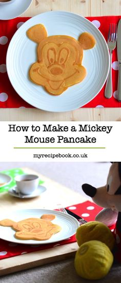 How to make a Mickey Mouse pancake. Including pancake recipe, tips and video. Breakfast Time, Breakfast Recipes, Breakfast Ideas, I Love Food, Good Food, Fun Food, Mickey Mouse Pancakes, Disney Food, Disney Recipes