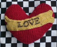 Knitted Valentine's Day Heart Beading Patterns, Crochet Patterns, Creative Knitting, Knitting Projects, Knitting Ideas, Valentines Day Hearts, Knit Picks, Knitting Charts, Valentine's Day Diy