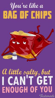 I have compiled a list of cute Valentines Day food puns which can help you express your true feelings in a humorous way. Take a look at these cheesy puns! Funny Food Puns, Punny Puns, Food Humor, Food Meme, Food Food, Love Puns, Funny Love, Cute Memes, Funny Memes