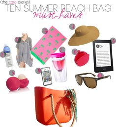 an island girl lists her must-have items when packing a beach bag..