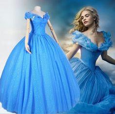 ディズニー実映画シンデレラのブルードレス、コスプレ衣装を安い価格で販売中!