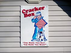 Sign for the Cracker Box house in Oxford, Ohio. Miami University, Box Houses, Box Signs, Crackers, Ohio, Oxford, Snoopy, Character, Art