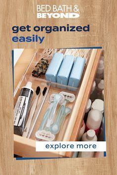 Linen Closet Organization, Kitchen Organization Pantry, Clutter Organization, Household Organization, Home Organization Hacks, Bathroom Organization, Container Organization, Organization Ideas, Bathroom Ideas