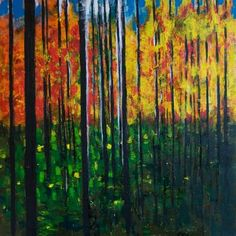 "Saatchi Art Artist Irina Gulyakina; Painting, ""Autumn forest"" #art"