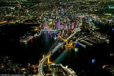 City of Lights: Photographer takes to the air to catch amazing images of the Sydney skyline
