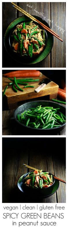 Spicy Green Beans in Peanut Sauce | #vegan #cleaneating #glutenfree # ...