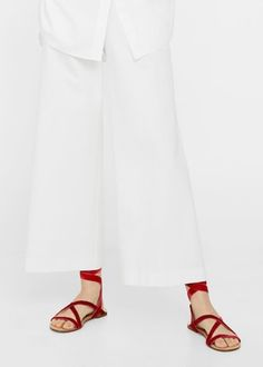 Velvet strappy sandals | MANGO