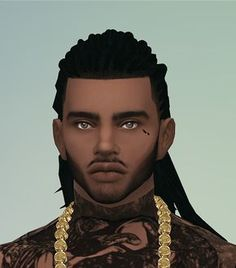 Three Hairs for Males / Sims 4 Custom Content