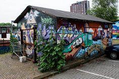 Graffiti barn Delfshaven Rotterdam #architecture #architectuur #wall #Delfshaven #building #010 #Rotterdam #Holland #Nederland #Netherlands #nature #ZuidHolland #SouthHolland #window