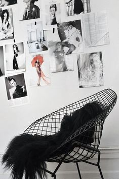 Inspiration station and wire chair with fur to soften
