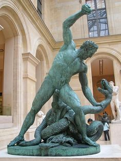 Louvre Museum - François Joseph Bosio - Hercules Struggling with a Serpent by *Checco*, via Flickr