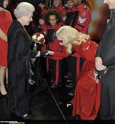 Lady Gaga meeting the Queen