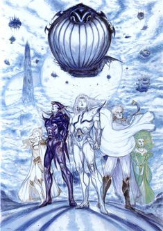 """Once again all of it is created by . I've uploaded art from the original Final Fantasy IV as well as the After Years """"sequel"""" in the same gallery. Final Fantasy Iv, Dark Fantasy Art, Artwork Final Fantasy, Fantasy Kunst, Yoshitaka Amano, Fantasy Princess, Fantasy Castle, Medieval Fantasy, Prince Charming"""