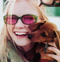 Kirsten Dunst with dachshund. Kirsten Dunst, Dachshund Funny, Dachshund Love, Funny Videos, Dog Love, Puppy Love, Weenie Dogs, Doggies, Little Dogs