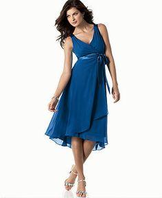 Evan Picone Petite Dress, Sleeveless Satin Tie - Womens Petite Dresses - Macy's