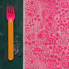 Oooo! Just printed  Signs of Spring in neon pink for an order. Yum!