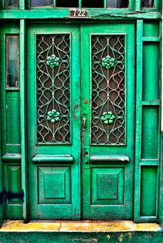 Striking Green Doors