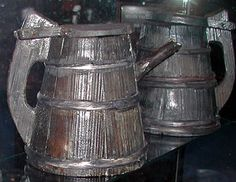 Stave tankards from the Shipwreck Vasa, sank 1628