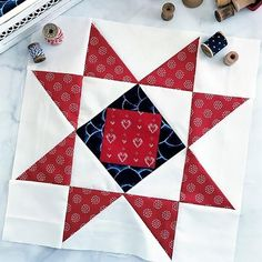 Spangled Quilt Block Summer quilt blocks should be easy breezy, which is exactly true for the Star Spangled Quilt Block!Summer quilt blocks should be easy breezy, which is exactly true for the Star Spangled Quilt Block! Modern Quilt Blocks, Star Quilt Blocks, Star Quilt Patterns, Star Quilts, Pattern Blocks, Block Quilt, Scrappy Quilts, Square Patterns, Sewing Patterns