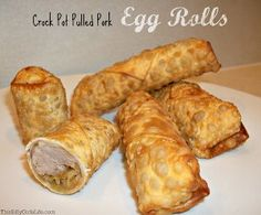 Looking for a different way to use pulled pork? This recipe for Pulled Pork Egg Rolls is just what you need. It calls for slow cooker pulled pork, cabbage, soy sauce, and fresh ginger. The dish has a yummy Asian flavor.